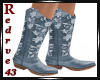 Western Blue Boots
