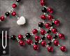 -V- Adaline Necklace Red