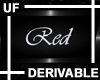 UF Derivable Red Sign