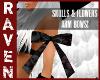 SKULLS & FLWRS ARM BOWS!