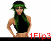 Zilia Hair (Green/Black)