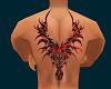 Tribal wings back tattoo