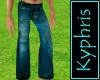 Worn Blue Jeans
