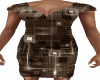 Brown Circuit Dress