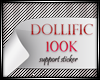 D/ 100k Support Sticker