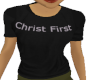 Christ First black tee F