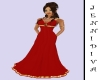 Red And Gold Belted Gown