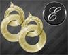 !E Gold link. earrings