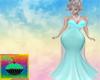 Teal/White Evening Dress
