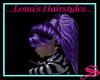 Purple ponytail long