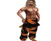 Orange Tribal Pants
