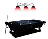 Blue Playable Pool Table