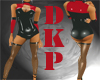 black and red pvc