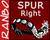 *R*Silver/Leather Spur R
