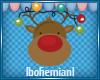 Goofy Reindeer Sticker