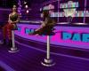 *sw Club stool purple