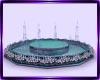 teal floor fountain