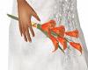 orange lily sml bouquet