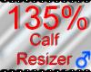 *M* Calf Resizer 135%