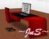 Red & Black 10 Pose Desk