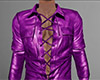 Hot Pink Leather Shirt M