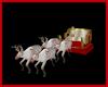 Reindeer Sleigh red/gold