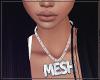 F Mesh Necklace L Cuban