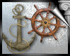 d3� Ship Wheel/Anchor