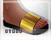 Metallic Gold Slides