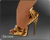 !7 Sette Gold Shoes