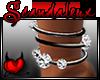 |Sx|Black&Dia Anklet L