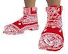[M] Red Bandana Boots