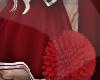 > RED POMPOMS