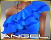 Ruffle Top Blue