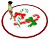 Candy Canes Xmas Rug Rd