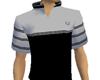 black gray sports top