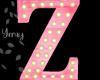 Pink Wood Letter Z