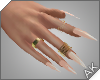 ~AK~ Nails: Gold/Nude