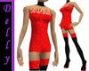 ~D~red short dress