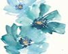 ~N~ Teal Flower Canvas