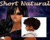 short natural- dk brown