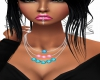Pink/Blue Pearl Necklace