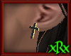 Cross Earring Black/Gold