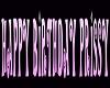 (V) Prissy Bday banner