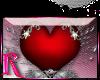 *R* Fancy Heart Sticker