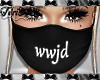 WWJD Black Mask