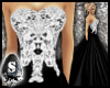 !! Black and White Gown