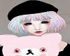 Black Hat Doll Hair