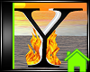 ! Animated Fire Letter Y
