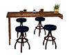 Wall Table and Stools